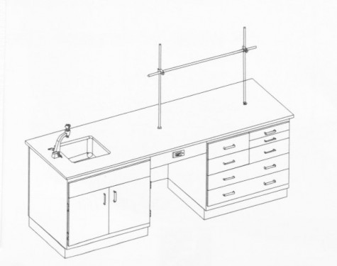 Traditional Teacher Demonstration Centers - End Sink (8' Version)