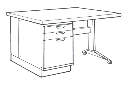 How to draw teacher desk